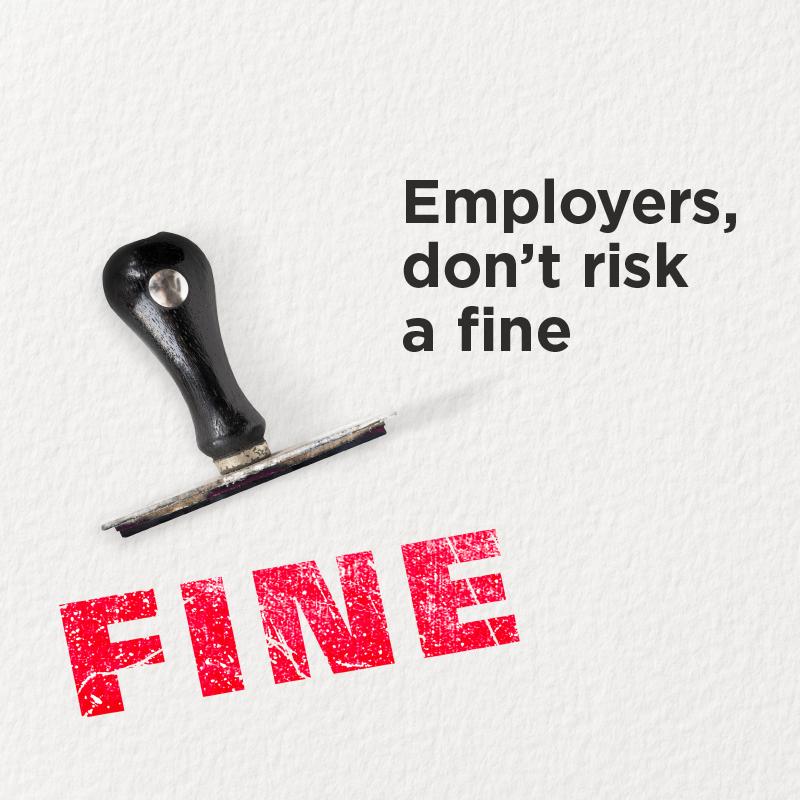 Employer fines